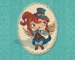 Turquoise steampunk by thesilverleaf
