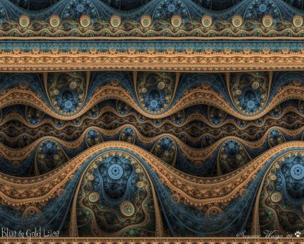 Blue and Gold Lace by WyrdWolf