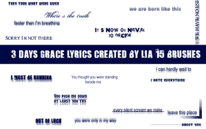 3 days grace text brushes by BlackenCrow