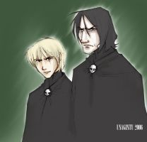 Snape and Draco by usagistu