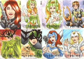 Thor The Dark World sketch cards 4 by mechangel2002