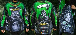 Ewok Blaster Paintball jersey2 by ismaelArt