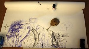 big drawing - in progress by Nimgaraf