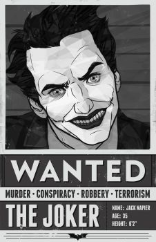 WANTED- The Joker by Rougaroux