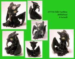 HTTYD Chibi Toothless Bobblehead by keixell