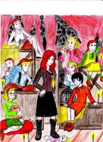 Red Crayon Aristocrats by Cashopeia