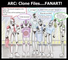 ARC: Clone Files FANART by The-Flying-Penguin