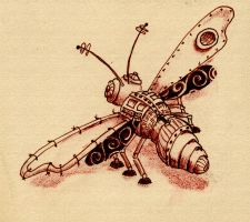 Steampunk Dragonfly by katseyesdesigns
