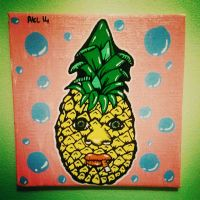 Smoking Pineapple by AnalieKate