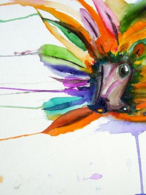 Watercolor Bird by MissMentalKarma