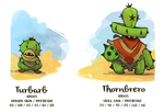 Turbarb and Thornbrero by Bummerdude