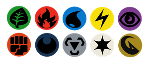 Button Designs - Pokemon TCG Energy Symbols by bagleopard