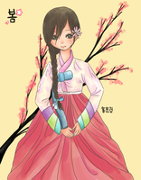 Hanbok Girl by yunitea