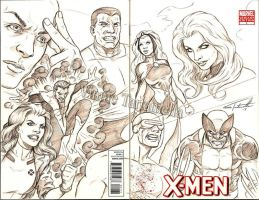 Xmen sketch cover by VinRoc