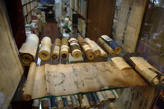 Scrolls in a Tokyo Antiquarian by Svenningsson