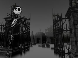 Jack with graveyard by BarbedWireZack