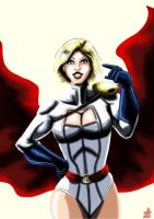 Powergirl in the light by adamantis