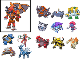 My pokemon fusion by Arceusomegazone