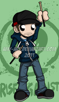 Brandon - Rise Against by amy-art
