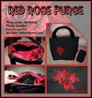 Red Rose Purse by Saint-Angel