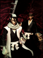 Byakuya and Renji by Michiru83