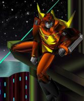 Rodimus hanging out by illmatar