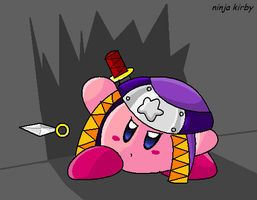 Ninja Kirby by MetaKnight92