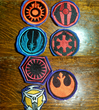 Star Wars Embroidered Badges by lokiie1984