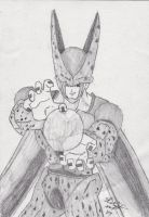 Perfect Cell pencil sketch finished by ShelandryStudio