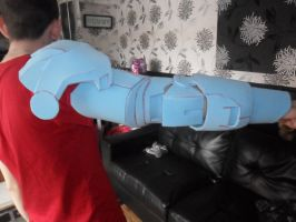 iron man arm custom made commission piece by firebapx