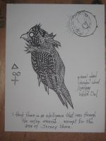 Astronomical Flight of a Blue Jay with No color by HandsofCrimson