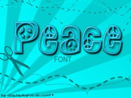 peace font by ObsessedCyrus