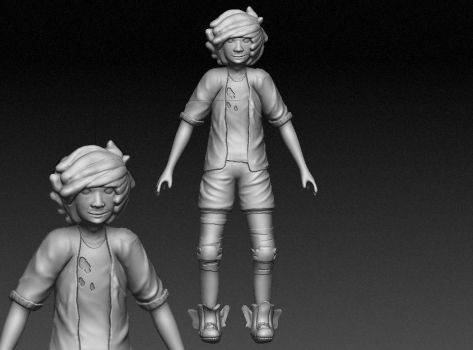 Character Design zBrush high poly model by blodbear
