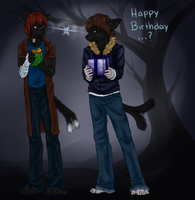 Happy Bday from Pyran + Druyin by razrroth