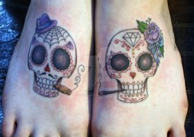 Feetsie Sugar Skulls by SharonPanda