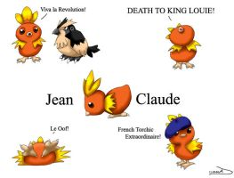 Jean-Claude the French Torchic by DarkFeather