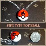 Fire Type Pokeball Charm by YellerCrakka