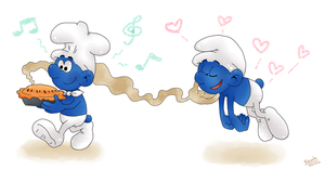The Smurfs: Cake XD by FeelTheRain13