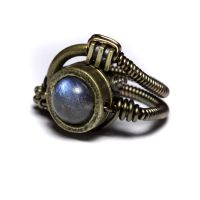 Stempunk Labradorite ring 5 by CatherinetteRings