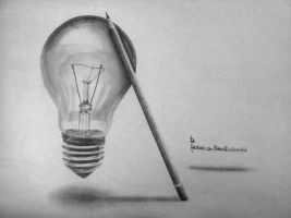 Bulb vs. Pencil by Epilic