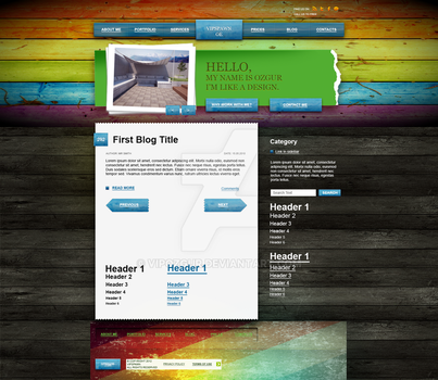 Wood And Color Wordpress Theme by VIPozgur