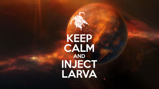 Keep Calm and Inject Larva by Arood