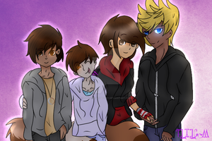 Family( Art Trade and Speedpaint) by TheLILCrazyMoney