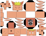 Naruto's physical Tailed Beast Mode by hollowkingking