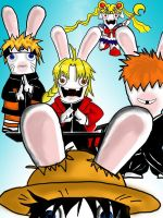 Anime Rabbids by otakuotaku
