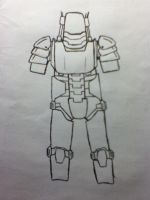 Scrapped power armour concept by RedLightningNOD608