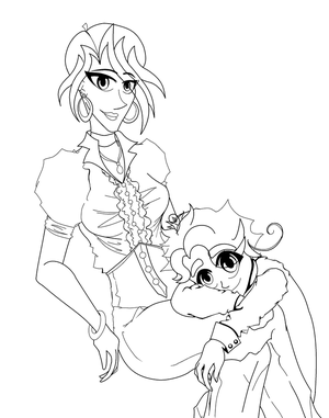 Rhea and Dionysos- LINE ART