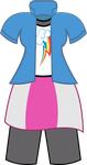 Rainbow Dash-Equestria Girls- Vector- Costume by SarahStudios11