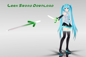 MMD Leek Sword DL by supersonicwind69