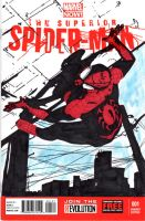 Superior Spider-Man Sketch Cover by skyscraper48